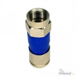 Conector Coaxial Rg6 Compressão Kit C/ 10 Peças